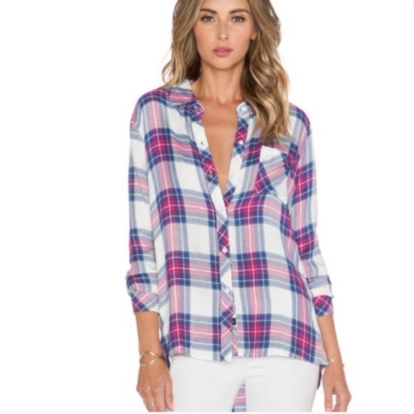 208e155a03d6 Rails Hunter Plaid Button Down Flannel Shirt - XS.  M_5a8863999d20f0a9861f4025